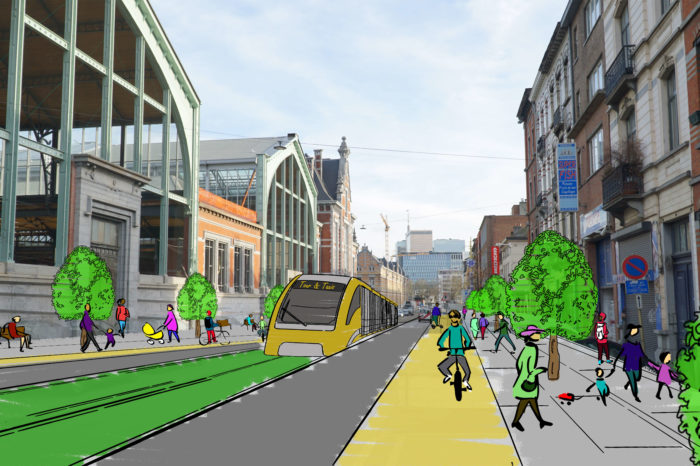 Brussels: new tram Thurn & Taxis to North and Central Station