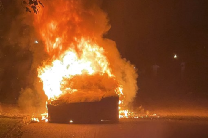 Tesla Model S Plaid bursts into flames while driving