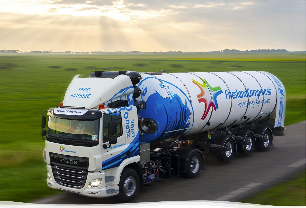 NewMobility: Hyzon 50-ton milk truck on hydrogen on Dutch roads.