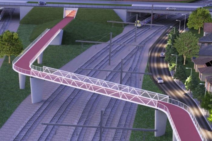 First part of F11 bicycle highway bridge installed