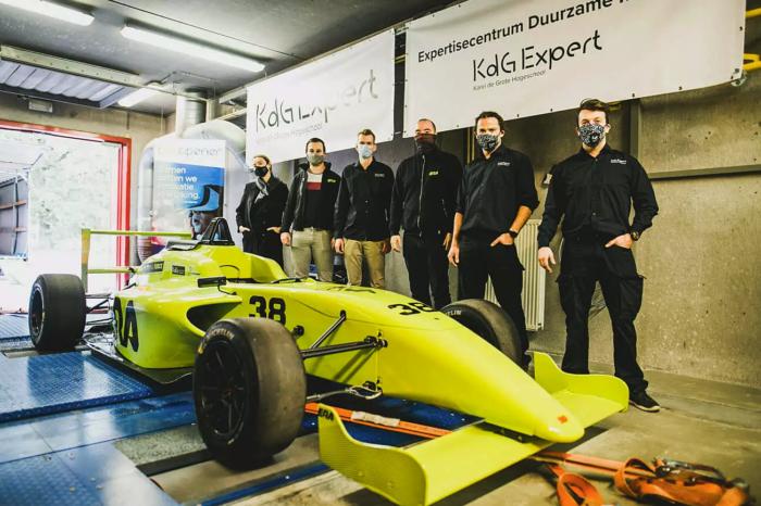Electric racing car ERA breaks lap record in Zolder
