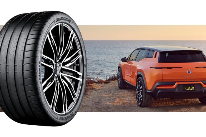 Bridgestone makes sustainable tire for Fisker Ocean