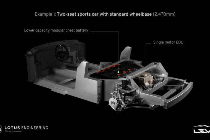 Lotus presents lightweight chassis for EV sports cars