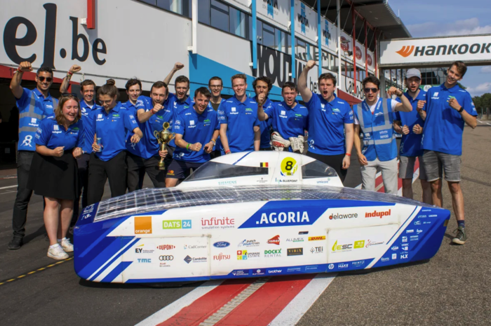Belgian Agoria Solar Team wins 24-hour European endurance race