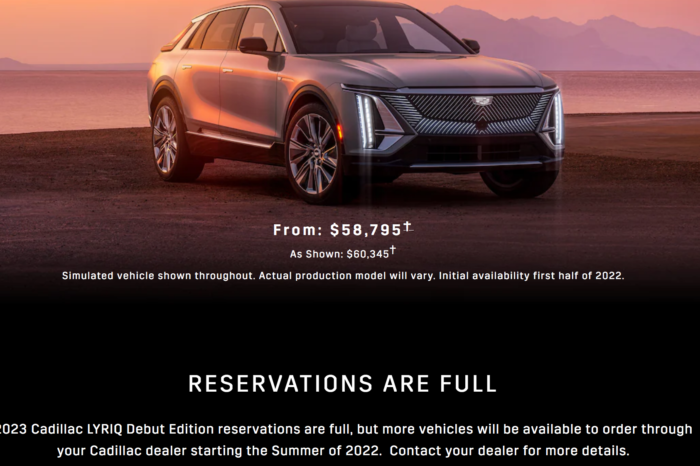Cadillac Lyriq Debut Edition sold out in less than 10 minutes