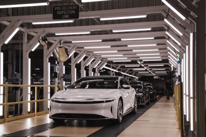 First Lucid Airs roll off the assembly line