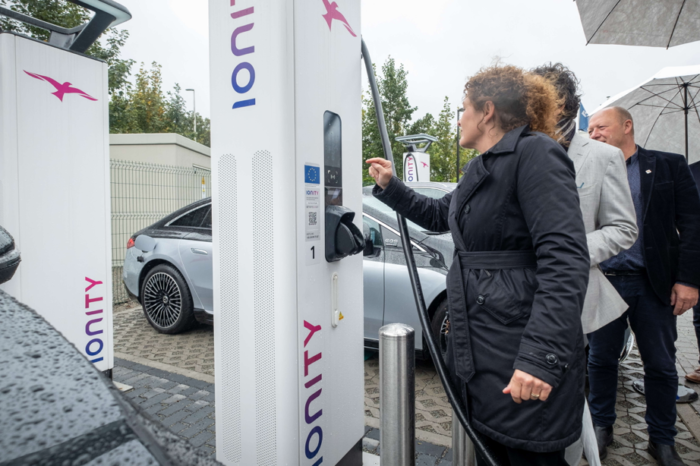 Four Ionity superchargers near Brussels ring road