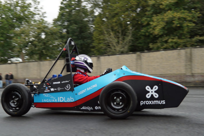 UGent students aspire to EU top with self-driving racing car